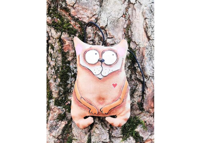 """Кофейная игрушка кот """" Строим глазки"""""""