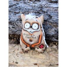 """Кофейная игрушка кот """" Приношу счастье"""""""
