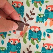Рисуем шоколадом на ткани с прорезиненным слоем